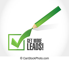 Get More Leads approval check mark sign