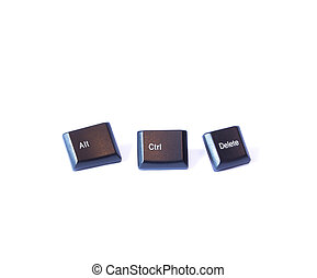 Alt Ctrl Delete - Three buttons Ctrl Alt and Delete on a...