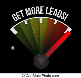 Get More Leads meter sign illustration design graphic