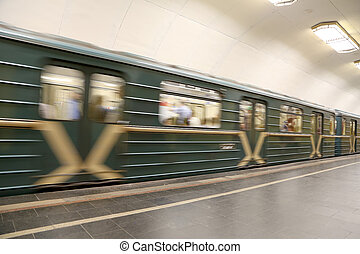 Metro station Rizhskaya in Moscow, Russia. It was opened in  01.05.1958