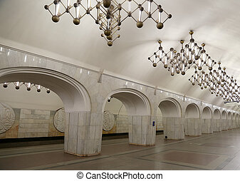 Metro station Mendeleyevskaya in Moscow, Russia. It was opened in  31.12.1988