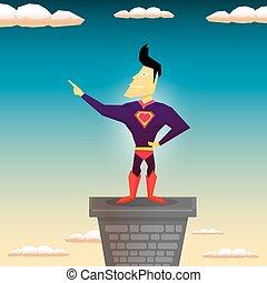 super hero. vector illustration
