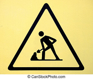 Sign of danger high voltage symbol