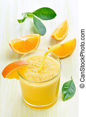 Orange juice in glass