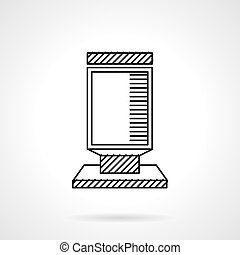 Citylight flat line vector icon - Empty advertising lightbox...