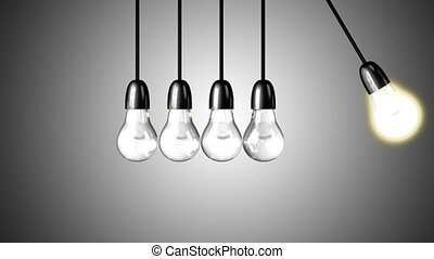 A light bulb boosts the others - A light bulb boosts other...