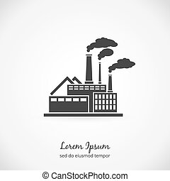 Factory logo Building plant industrial, power energy,...