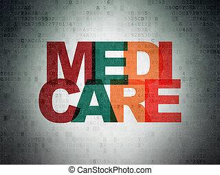 Medicine concept: Medicare on Digital Paper background