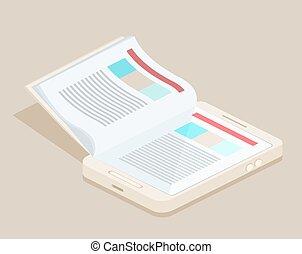 A smart phone e-book