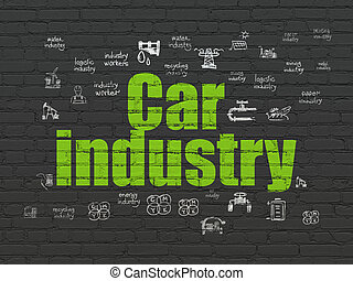 Industry concept: Car Industry on wall background