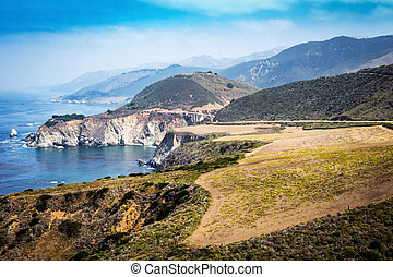 Biby Bridge on Pacific Coast Highway PCH in California shot...