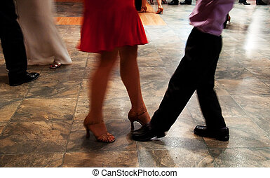 Learning To Dance - This photo shows a woman in high heels...