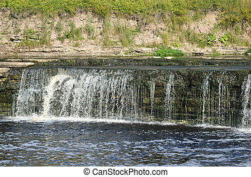 Small waterfall - Small waterfall on Tosna River Leningrad...