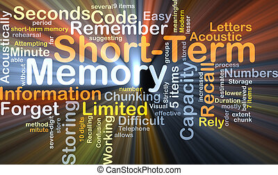 Short-term memory background concept glowing - Background...