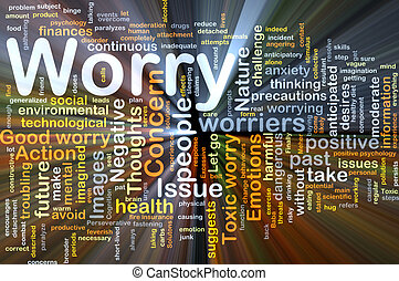 Worry background concept glowing