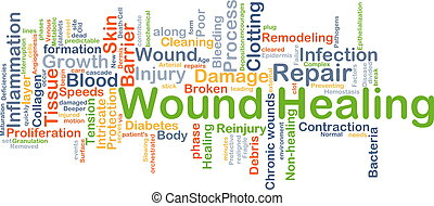 Wound healing background concept - Background concept...