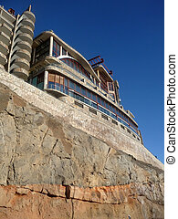 Cliffside Hotel - A hotel on top of cliffs in Gran Canaria.