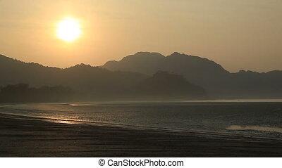 sunrise on seaside beach