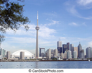 Toronto Lake view from islands 2004 - View of Downtown from...