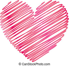Ilustration of a red heart pattern background - Vector...