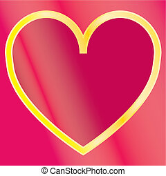 Ilustration of a red heart pattern background