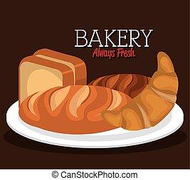Bakery shop design. - Bakery shop design, vector...