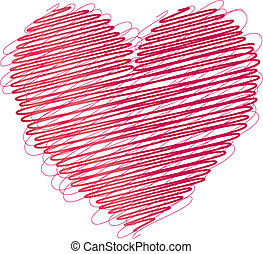 Illustration of a red heart pattern background