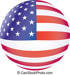 Vector USA flag - 3D vector illustration