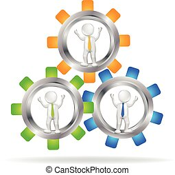 3D Business teamwork people logo - 3D Business teamwork...