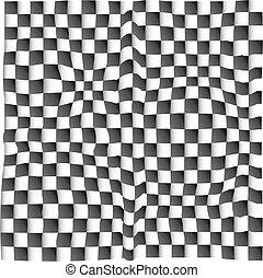 3D chess op art