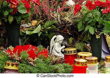 floral arrangement cemetery 12