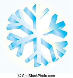 Ice Snow abstract style Blue - 3D Mosaic background...