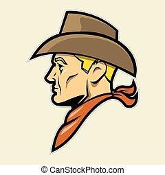 Cowboy Head Mascot