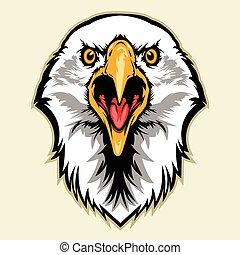 eagle head - Multi Colors Illustration Of eagle head