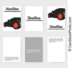 Polygonal design style letterhead and brochure for business