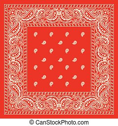Red Bandana - Illustration Of Red Bandanna