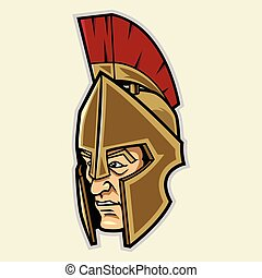 Spartan Head Mascot