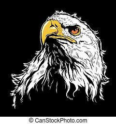 White Eagle Head - Multi Colors Illustration Of White Eagle...