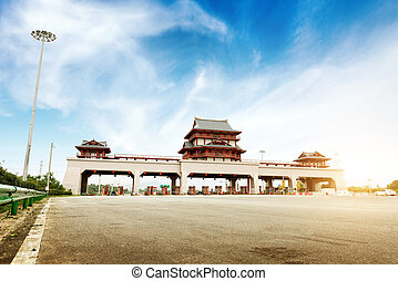 Highway toll station - China's highway toll and vehicle
