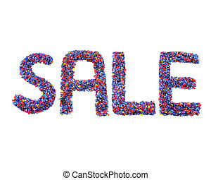 sale  on white background