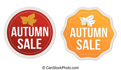 Autumn sale stickers set