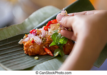 traditional asian cuisine - A portrait of a traditional herb...