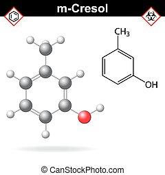 Cresol molecule, meta-cresol isomer - Cresol molecule -...