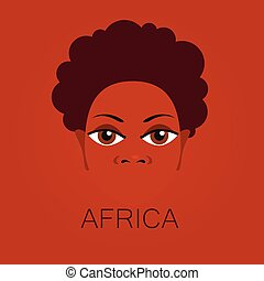 africa people sign - Africa Portrait of Africans Template...