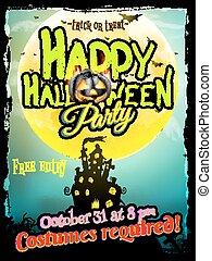 Grunge Halloween background. EPS 10