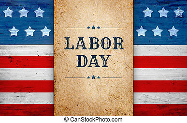 Labor Day banner - Labor Day background, patriotic theme