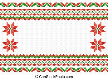 red and white knitted background - vector illustration of a...