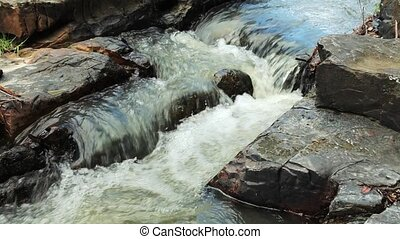 Mountain stream - Video shot of mountain stream between...