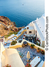 Apartments on the hill in Oia, Santorini