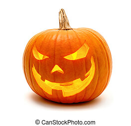 Halloween pumpkin with evil grin - Jack o Lantern Halloween...